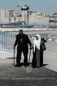 Qalandiya Crossing in Jerusalem, Israel