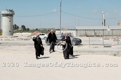 Qalandiya Crossing in Jerusalem, Israel