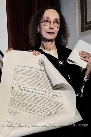 Joyce Carol Oates in Jerusalem, Israel
