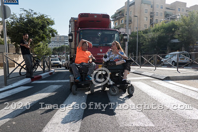 Handicapped Demonstrations in Jerusalem