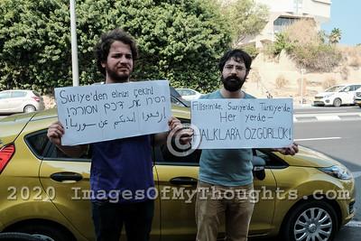 Tel Aviv Protest Denounces Turkey