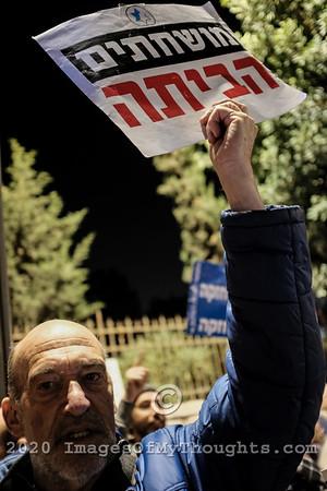 Pro and Anti Netanyahu Protest in Jerusalem
