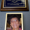 A plaque honoring Joplin healthcare pioneer and Community Clinic founding board member Doris Carson hangs at the clinic on Friday. <br /> Globe | Laurie Sisk