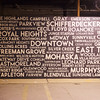 Globe/Roger Nomer<br /> A mural at the Empire Market contains the names of historic Joplin neighborhoods.
