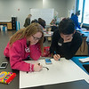 Globe/Roger Nomer<br /> Tabitha Vail and Pedro Cuevas, seniors at Field Kindley High School, work on a poster on Friday during the Foreign Language Field Day at Joplin High School.