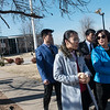 Globe/Roger Nomer<br /> Lisa Li, a Missouri Southern masters student from Linyi, China, talks with Chen Li, dean of finance and accounting at Shandong Foreign Trade Vocational College, as they walk on campus at MSSU on Friday. Lisa Li is carrying treats brought by the Chinese delegation givne to the MSSU students.