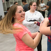 Globe/Roger Nomer<br /> Alexandra Stelts, a senior at Joplin High School, dances the Salsa on Friday during the Foreign Language Field Day at Joplin High School.