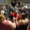 Globe/Roger Nomer<br /> Guests circle around on the dance floor at the Joy Prom on Saturday in Lamar.