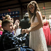 Globe/Roger Nomer<br /> Shelby Barnard, 12, Jasper, dances with Trenton Fast, 10, Jasper, at the Joy Prom on Saturday in Lamar.
