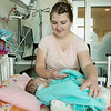 Globe/Roger Nomer<br /> Alex Duke tucks in her daughter Kyndall Clarkson on Jan. 18, 2017, at Mercy Hospital.