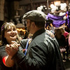 Globe/Roger Nomer<br /> Ashley Spriggs dances with her fiance Jay Horn, both of Pittsburg, during Saturday's Joy Prom in Lamar.