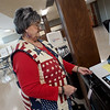Sharon Wiford votes at the Miami Civic Center on Tuesday afternoon.<br /> Globe | Roger Nomer