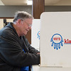 Richard Heatherly votes at the Miami Civic Center on Tuesday afternoon.<br /> Globe | Roger Nomer