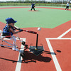 Globe/Roger Nomer<br /> Tatum Ashford, 6, hits off a tee at the Will Norton Miracle Field on Wednesday afternoon.