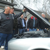 Globe/Roger Nomer<br /> Bill Smith closes the hood on his newly-restored '68 Camaro on Wednesday in Pittsburg.