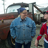 Globe/Roger Nomer<br /> Melba Rigg chats with Andy Shepherd as he visits Tow Tater at 4 Women on the Route in Galena on Wednesday afternoon.