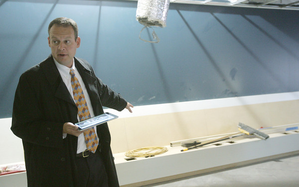 Globe/Roger Nomer<br /> Erik Gallimore gives a tour of the Healthy Nevada Innovation Center on Wednesday morning.