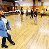 Globe/T. Rob Brown<br /> Dance instructor Marie Spruk, left, teaches line dancing to a group of students Wednesday morning, April 3, 2013, at the Joplin Square Dance Center, 1801 W. 2nd St. Classes are held from 10-11 a.m. every Wednesday.