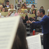 """Globe/Roger Nomer<br /> David Sharlow directs The Southern Symphonic Chorus during rehearsal on Monday evening for an upcoming performance of Maurice Durufle's """"Requiem."""""""