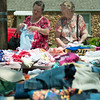 Globe/Roger Nomer<br /> Debbie Patrick, left, and Lois Lawson, both of Neosho, shop for clothing for their first grandchild and great grandchild respectively on Friday in Neosho.