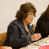 Globe/Roger Nomer<br /> Sheryl Rowden judges a dish during Wednesday's competition at Franklin Tech.