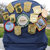 Ten-year-old Ian Suzuki's backpack chronicles the boys love of national parks during National Junior Ranger Day on Saturday at George Washington Carver National Park.<br /> Globe | Laurie Sisk