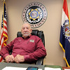 Newton County Sheriff Ken Copeland sits in his office at the Newton County Jail on Wednesday afternoon.<br /> Globe | Laurie Sisk