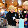 Globe/Roger Nomer<br /> Frank Justus, Smithville, Mo., talks with author Susan Croce Kelly on Friday at the Jefferson Highway Convention at the Legacy Barn Event Center.