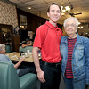 NIneteen-year-old entrepeneur Andrew Faucett stands with Harry's Cafe owner Betty Farris inside the cafe on Friday in downtown Pittsburg. In the next few weeks, Faucett plans to open his own restaurant, The Eastside Cafe in Girard.<br /> Globe | Laurie Sisk