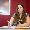 Globe/Roger Nomer<br /> Debra Nash, general manager at Liberty Tax on Main Street, works on taxes on Tuesday.