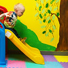 Globe/Roger Nomer<br /> Eli Ward, 2, slides on Wednesday at the Cerebrap Palsy of Tri-County center in Webb City.