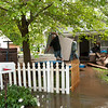 Residents on Seneca's Hamilton Street  try to salvage belongings after heavy flooding this past weekend.<br /> Globe | Laurie Sisk