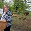 Globe/Roger Nomer<br /> Donna Whitehead, center director, talks about the Eagle's Nest play area on Friday at Wildcat Glades Conservation and Audubon Center.