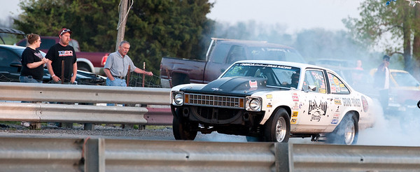 Joplin's Garrett Cantrell, of Bad Boy Racing, makes his down the track during the Friday Fun Drags on Friday night at Mo-Kan.<br /> Globe | Laurie Sisk