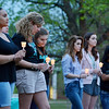 "Globe/Sierra Gray<br /> Missouri Southern students attend the ""Take Back the Night"" event hosted by Alpha Sigma Alpha sorority on campus Thursday evening. The event was held to bring awareness to sexual assault. There were speakers and a candle light vigil."
