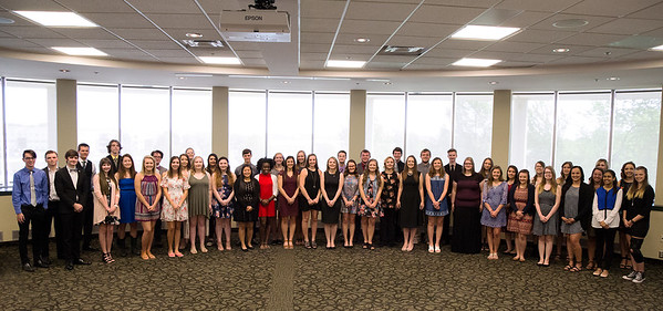 Photo Courtesy Missouri Southern <br /> Forty-eight students were recognized during the Honors Signing Ceremony held Tuesday at Missouri Southern State University. The incoming freshmen signed their intent to join the university's Honors Program.