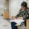 Globe/Roger Nomer<br /> Thelma Ponce, a Missouri Southern sophomore from Green Forest, Ark., studies in Reynolds Hall on Thursday.