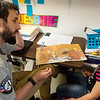 Globe/Roger Nomer<br /> Micah Miller reads with Jaycee Lile, first grade, on Monday at Purdy Elementary.