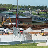 Globe/Roger Nomer<br /> Construction continues on Wednesday of the Early Childhood Development Center.
