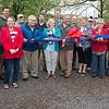 Globe/Roger Nomer<br /> The ribbon is cut on the Eagle's Nest play area on Friday at Wildcat Glades Conservation and Audubon Center.
