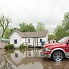 Yards on Seneca's Hamilton Street remain flooded Sunday after heavy rains this past weekend.<br /> Globe | Laurie Sisk