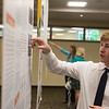 Globe/Roger Nomer<br /> Sam Griesemer, a senior at Joplin High School, explains his research project during Wednesday's Student Research Symposium at Missouri Southern.