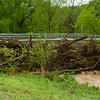 Massive trees clog a bridge near Anderson on Saturday after heavy rains Friday night and Saturday caused massive flooding in the area.<br /> Globe | Laurie Sisk