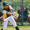 Globe/Roger Nomer<br /> Missouri Southern's Kylie Wesbrooks hits a single against Northwest Missouri during Monday's game at MSSU.