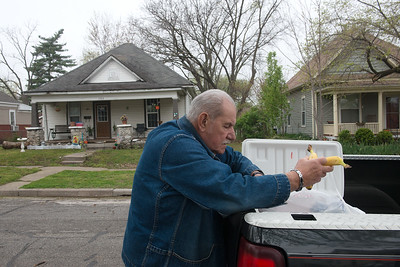 Globe/Roger Nomer Bob Guarino, Senior Corp volunteer, delivers meals to seniors on Tuesday in Joplin.