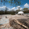 Cleanup continues last week on the former site of the Redings Mill Pool and Arde's Villa in Redings Mill. A developer has begun reviving the property for future use.<br /> Globe | Laurie SIsk