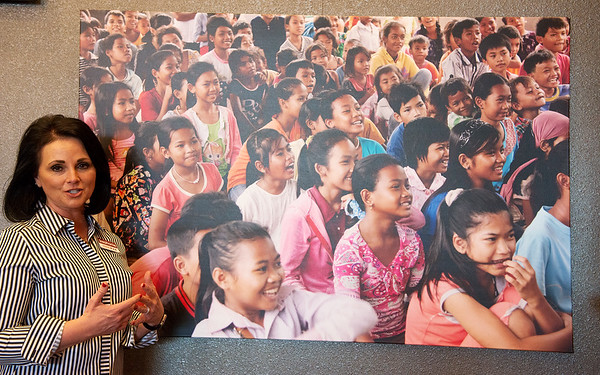 Stephanie Freed, executive director of Rapha House, talks about a prevention program offered by Rapha House called Kid's Club in Cambodia.<br /> Globe | Roger Nomer