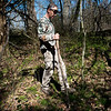 Nate Stokes searches for morels in Sarcoxie on Tuesday afternoon.<br /> Globe | Roger Nomer