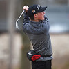 Robbie Sager, a sophomore at Carthage High School, tees off during Thursday's Joplin Invitational at Twin Hills.<br /> Globe | Roger Nomer