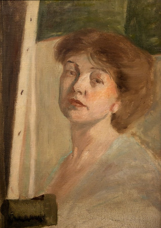 On display at the Springfield Art Museum is a self-portrait by Rose O'Neill.<br /> Globe | Roger Nomer